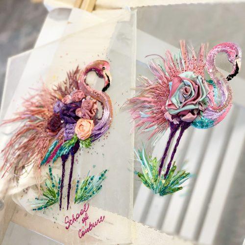 Siuvinejimo mokymai flamingas